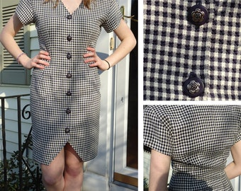 SALE- Check Mate Office Dress