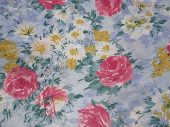 Painterly Floral Fabric Length