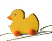 Wooden Toy- Duck Pull Toy (Non-Toxic) Old-Fashioned Style