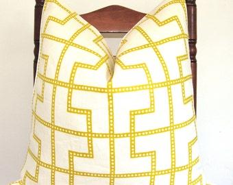 Pillow Cover, Decorative Pillow, Throw Pillow, Designer Pillow, Toss Pillow, Celerie Kemble, Schumacher Bleecker, Absinthe, 20x20 inch