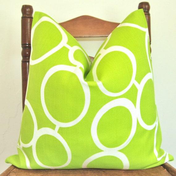 BOTH SIDES Designer Pillow - Decorative Pillow - Throw Pillow - Trina Turk for Schumacher - Sunglass - 18 in Sq - Parrot - Indoor/Outdoor