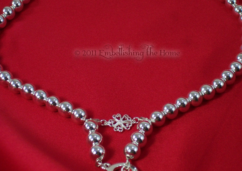 Necklace Shortener Heart Flowers