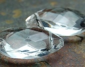 Clear Glass Teardrops 12x18 Faceted Crystal Ice   -2