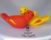 Spanish Love Birds Custom Cake Topper