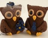 Owl Love Birds Custom Wedding Cake Topper