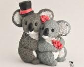 Koalas Wedding Cake Topper Bride and Groom Customized