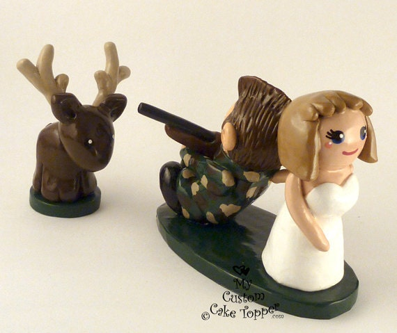 wedding cake topper hunter groom items similar to wedding cake topper and 26338