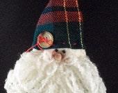 Warm and Natural - Santa  with yarn beard Ornament