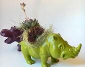 Animal Planter Couple - Mini Modern Art Centerpieces