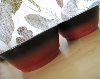 anchor hocking fire-king red black bowls