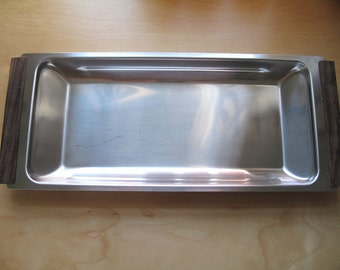 kalmar stainless and rosewood tray
