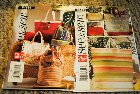 See and Sew Purse Patterns, Set of Two