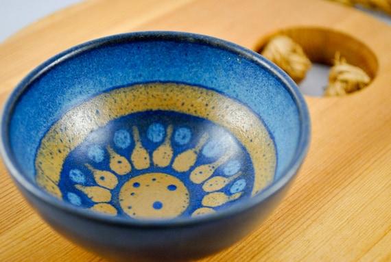 Small Pottery Bowl, sunburst