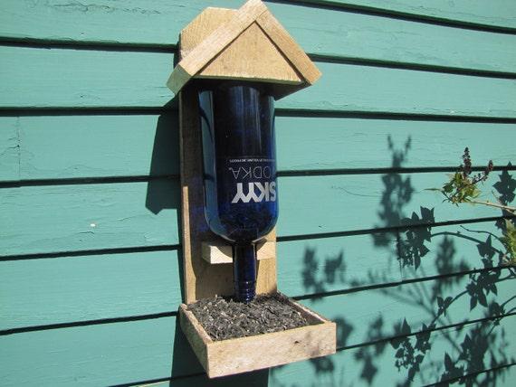 Vodka Bottle Bird Feeder Upcycle