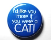 Cat Love - 1 inch Blue Button - PIN or MAGNET
