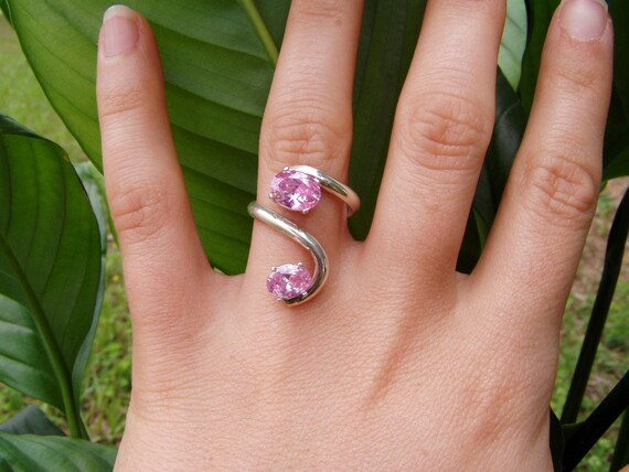 PINK cz ring breast cancer awareness
