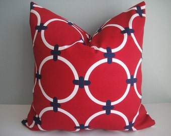 FREE US Shipping, CLEARANCE 20x20 Indoor / Outdoor 18x18 Designer Pillow In Redondo