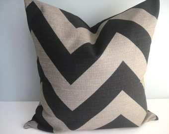 CLEARANCE - Free US Shipping ,18X18 Designer Pillow In Zippy Stone Black Contemporary Print