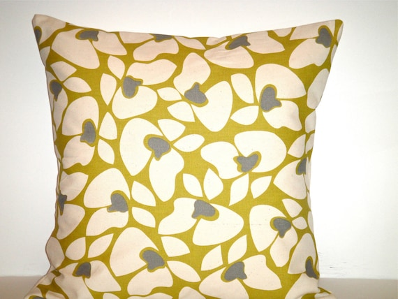 CLEARANCE- 16x16 Designer Pillow In Helen Citrine Both Sides