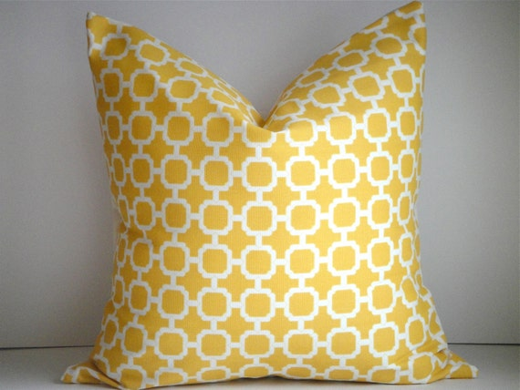18x18 Pillow Cover In Hockley Yellow