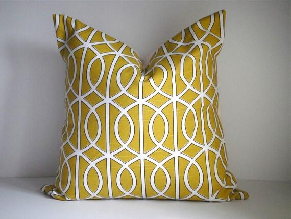 CLEARANCE- 18x18 Designer Pillow By Robert Allen Dwell Gate Citrine