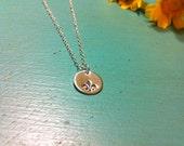 Tiny Sterling Silver Fleur De Lis Necklace