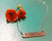 "Delicate Sterling Silver ""Muchness"" Necklace"