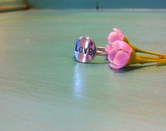 Delicate Sterling Silver Love Ring