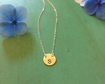Sterling Silver Initial Necklace-Double Drop