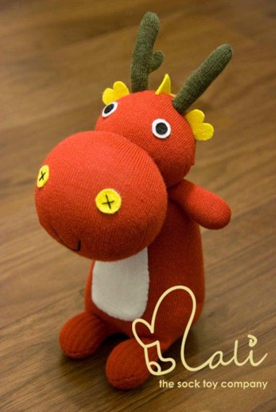 Mali Sock Doll - Red Dragon - Ada