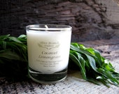 VOTIVE Candle Coconut Wax Candle with Essential oils All natural Organic COCONUT LEMONGRASS
