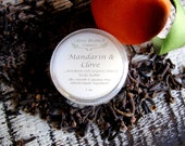 Body Butter travel size MANDARIN and CLOVE All Natural Vegan with Essential Oils 1 oz.