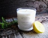 Organic Candle LEMON BLOSSOM Coconut Wax Essential Oils All Natural 10 oz.