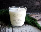 Organic Candle EXOTIC COCOA FLOWER Vegan Coconut Wax Candle Essential Oils All Natural 7 oz.