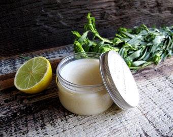 Body Butter Organic All Natural skin care with Essential Oils in COCONUT LEMONGRASS