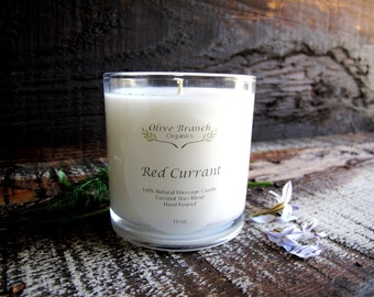 RED CURRANT Organic Candle Essential Oils All Natural  Aromatherapy  10 oz.