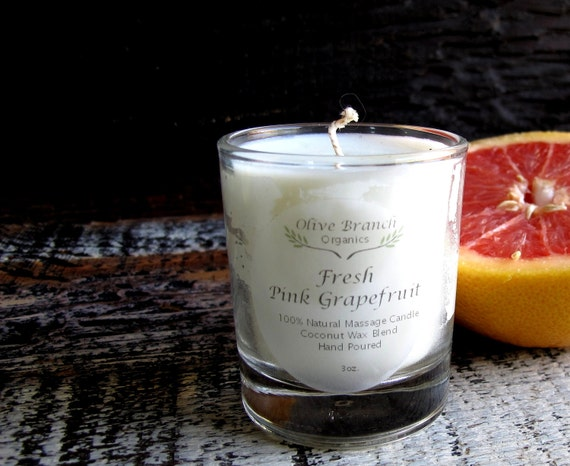 VOTIVE Coconut Wax Candle with Essential oils All natural Organic PINK GRAPEFRUIT