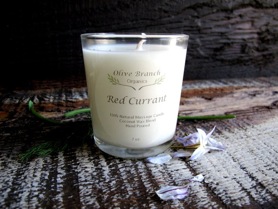RED CURRANT Candle Coconut Wax Essential Oils All Natural Aromatherapy 7 oz.