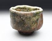 Shino glazed teabowl