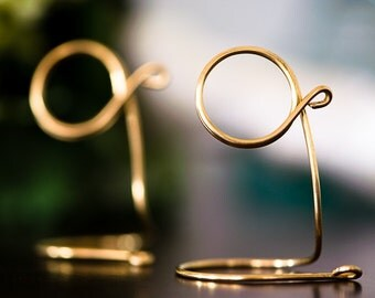 Brass Table Sign Holder, Wedding Reception Decor, 9pcs