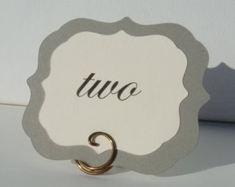 Place Settings, Table Card Holders, Vintage Bronze, 4