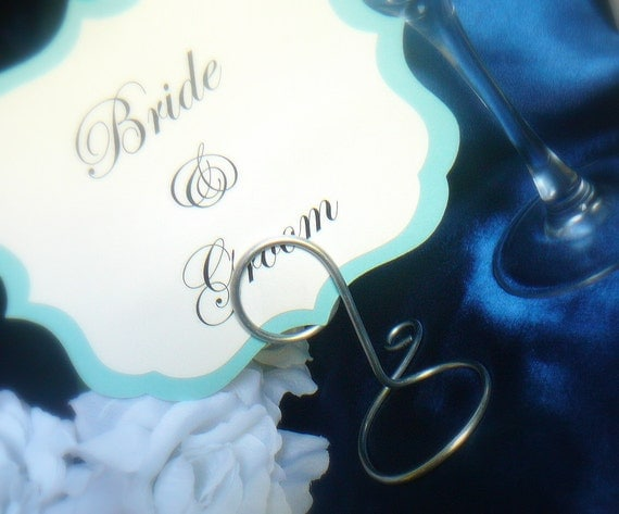 Wedding Table Card Holders, Silver, 10pcs