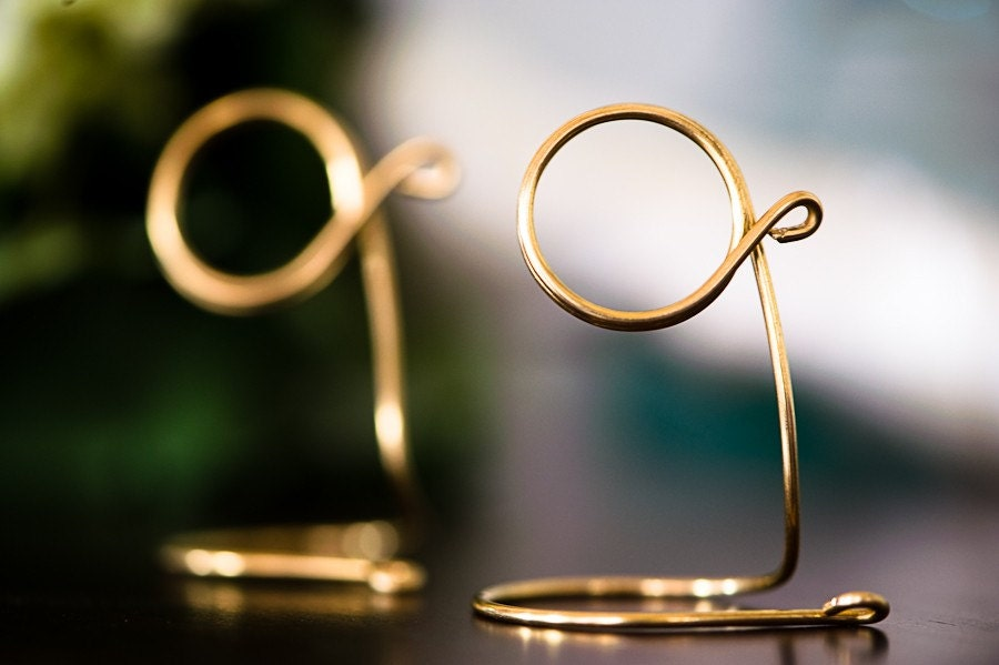 gold wedding table number holders 1