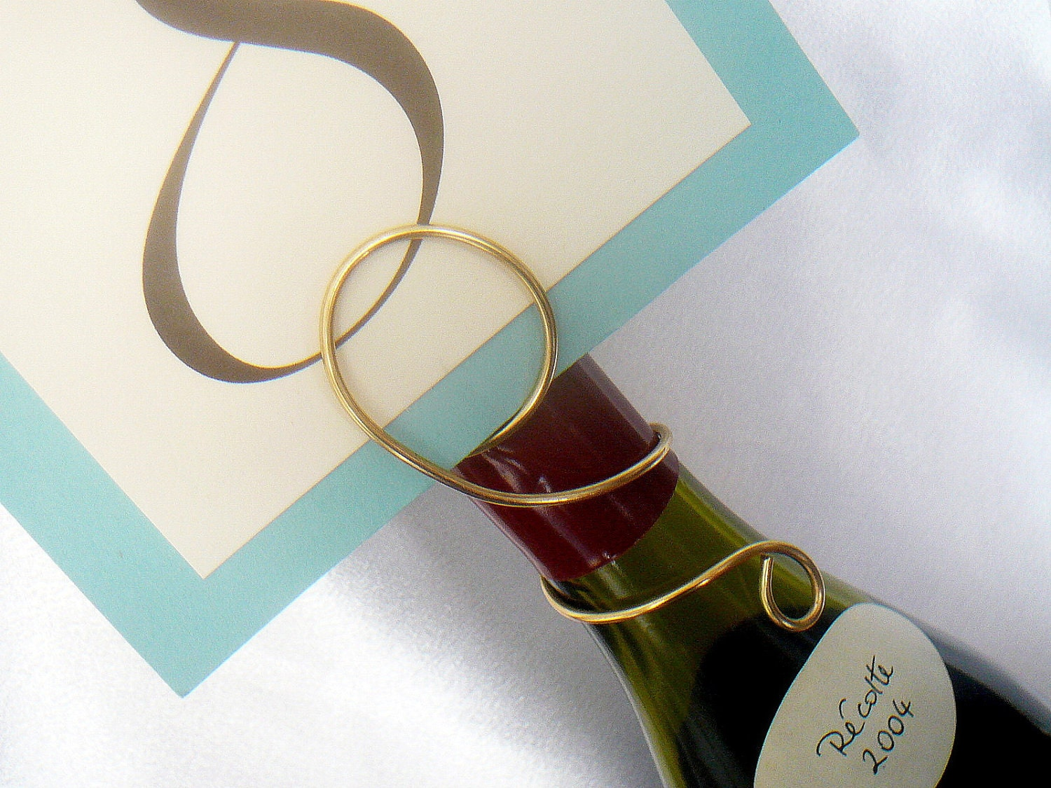 Party Table Decor Wine Bottle Number Holder Graduation