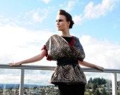 Reversible Red-Leopard Print Kimono