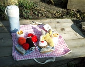 Hand knitted toy picnic set