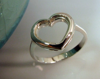 A heart of mine - 925 Silver - Wedding Engagement Anniversary Promise Ring -  US European Australian Size - Customizable