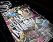 The Radical Uprise COLOR Poster Zine 019 : Get off the Internet