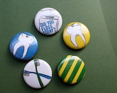 Brush and Floss Button Set - Lot of 5