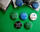 Let's Ride Bicycle button set - Lot of 5